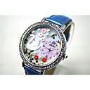 ヘーベ女性のファッション特殊なパターンアップレザー腕時計
