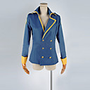 Inspirirana Napad na Titanu Eren Jager Anime Cosplay Kostimi Cosplay Suits Kolaž Plava Kaput / Badge