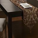 Europski stil zlatne poli-svilene baršunastih jacqard poliester / pamuk lista trkača