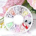 24PCS 12-Color Polymer Šarene Rose Nail Art dekoracija