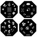1kom Nail Art Pečat Utiskivanje predlošku slike Plate QA Series br.5-60 (Izabrane Pattern)