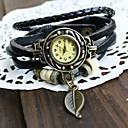 ヘーベ女子ヴィンテージリーフ織りレザー腕時計