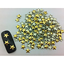 100PCSスターパンクゴールデンリベットは、アートの装飾ネイル