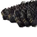 最高品質のブラジルの深い波横糸100%バージン人毛エクステンション28インチ3枚