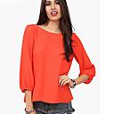 CoolCube Ženska Bowknot Loose Fit Solid Color šifon T-Shirt