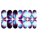 12PCS Abstraktní Barevné Světelné Nail Art Samolepky