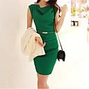 Moda Bodycon kapuljača Vrat šifon haljina