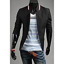 LEEBIN Muška Slim Solid Color ¾ rukava jakna (crna)