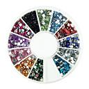 600PCS 2x2mm Trg Arcylic Dimond Nail Art dekoracije