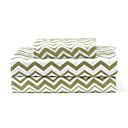 """Sheet Set 4-Piece mikrovlakana Wave Green sa 12 """"Pocket Dubina"""