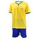 KOOPLUS® Pánské Fotbal Tričko + šortky Sady oblečení/Obleky Jaro Léto Podzim Klasický Polyester Fotbal Žlutá