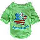 pejsky Trička Žlutá / Zelená Oblečení pro psy Jaro/podzim Americký / USA / národní vlajka