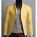 OTS Muška Korejski Casual Jedan Buckle Blazer (žuta)