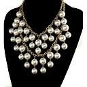 Shadela Broke Girls skládaný Perlový náhrdelník