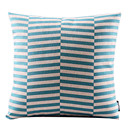 現代のブルー幾何コットン/リネンDecorrative枕カバー