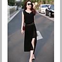 Michaela Europska rukava šifon haljina Slim (crna) -1211