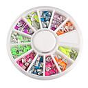 Šarene Mixs Style Fluorescentna Rivet Nail Art Decoraitons