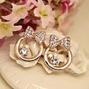 Modni Nakit pozlaćeni Bowknot Stud Naušnice Set sa dijamanata