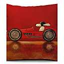 Cartoon Dog Driver Cotton/Linen Decorative Pillow Cover