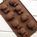 8 medvjed lav hippopotami životinja kolač kalup