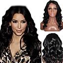16Inch Indický Remy vlasy krajka Přední paruka krása Wave Top Middle Part 4 barev