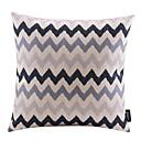 現代の波状コットン/リネン装飾枕カバー
