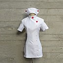 に触発さ Super Sonico すーぱーそに子 アニメ系 コスプレ衣装 コスプレスーツ ゼブラプリント ホワイト ショート ドレス / ハット