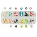 60個12色のダイヤモンドの樹脂の花のネイルアートの装飾