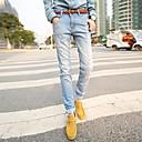 ST.ANTONIO ™ Pánské volný čas Rovné džíny Slim kalhoty modré Denim Jeans