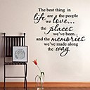 riječi citira zidne naljepnice najbolju stvar umjetnosti uređenje doma zid decal 60 x 60 cm