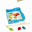 おもちゃの子供の知能磁気木製の釣り池モデル