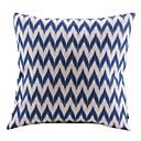 Moderna Blue Strelice Pamuk / Posteljina Dekorativni jastuk Cover