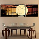 Rastegnut Canvas Art Forest The Moonlight Set od 3