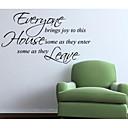 jiubai ™ citat naljepnica zid zid decal, 50 * 85 cm
