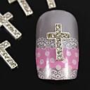 10ks kutilství Silver Tips drahokamu křížení prstů příslušenství nail art dekorace