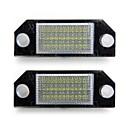 Broj automobila registarske pločice bijele 24 LED svjetla žarulje za Ford Focus 2 C-MAX