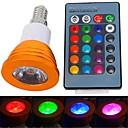 3W E14 LED reflektori 1 Visokonaponski LED 180 lm RGB Na daljinsko upravljanje AC 85-265 V