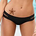 1pcs zvijezde metalik zlatne i srebrne tattoo naljepnice privremene tetovaže (10,5 * 24.5cm)