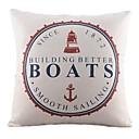 nautičkih plovila pamuka / lana dekorativni jastuk pokriti