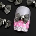 指先アクセサリーネイルアートの装飾のための10個入りの黒の蝶ネクタイ