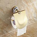 """Držák na toaletní papír Ti-PVD Na ze´d 612 x 197 x 119mm (24 x 7.8 x 4.7"""") Mosaz Vintage"""