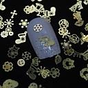 100pcs mix oblik zlatni metalni komad computerlv nail art ukrasa