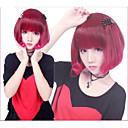 ロリータウィッグ ロリータパンク カラーグラデーション ショート / ボブ レッド ロリータウィッグ 35 CM コスプレウィッグ パッチワーク かつら のために 女性