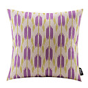 抽象的な紫色の花の綿/リネン装飾枕カバー