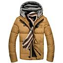 男性の純粋な色のダウンジャケットコート
