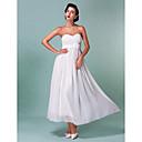 Lanting Bride® タイト/コラム 小柄 / 大きいサイズ ウェディングドレス - クラシック/タイムレス / シック&モダン アンクル丈 スイートハート シフォン とともに