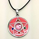 Jewelry Inspirirana Sailor Moon Cosplay Anime Cosplay Pribor Ogrlice Roza Alloy / PU Leather Female