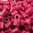 約500個/袋5ミリメートル赤紫perlerビーズはビーズの浜ビーズの子供のためのDIYのジグソーパズルEVA物質安全を融合