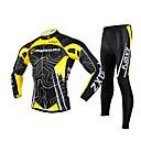 FJQXZ® Biciklistička majica s tajicama Muškarci Dugi rukav BiciklProzračnost / Quick dry / Vjetronepropusnost / Ultraviolet Resistant /