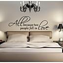 jiubai ™ láska quote zeď nálepka Lepicí obraz na stěnu